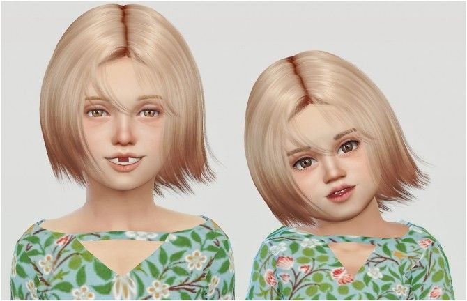 Wings Os1027 Hair for kids & toddlers for The Sims 4
