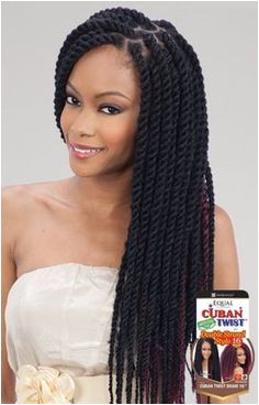 Freetress Equal Synthetic Hair Braids Double Strand Style Cuban Twist 16 click now for more Kenya Newton