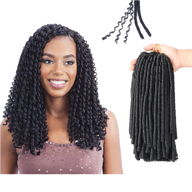 Soft Dreadlocks Crochet Braids 14 inches Synthetic Braiding Hair 30 Roots Crochet Hair Extensions For Women
