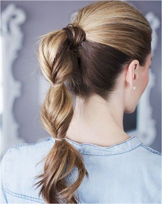 13 Easy Summer Hairstyles Your Inner Mermaid Will Love The elegant & grown up version of the topsy tail ponytail hairstyle The perfect summer do for work