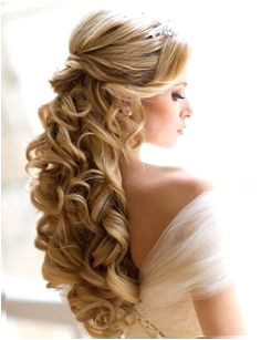 sweet 16 hairstyles with tiaras Google Search … Curly Wedding Hair Wedding Hair Down