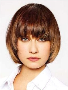 Feminine Tapered Short Hairstyle With Bangs Wig