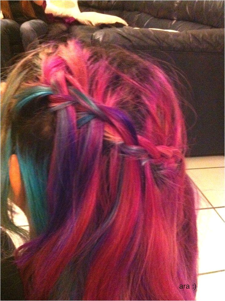 confetti hair w side braid