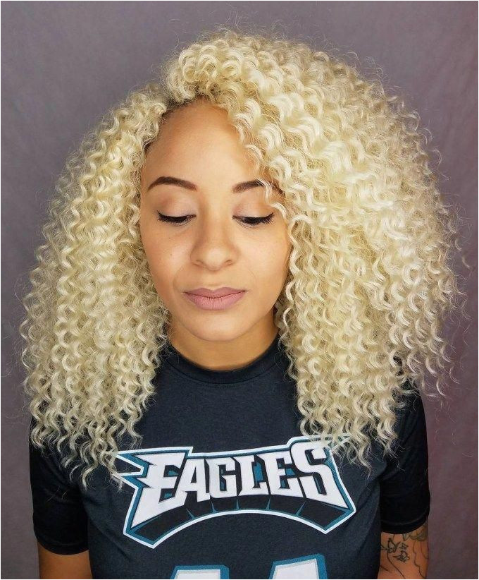 Medium Natural Blonde Hairstyle Crochet braidedhairstylesforblackwomen