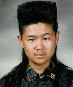 strange hair Asian Mullet 80s Hairstyles Kid Haircuts School Funny