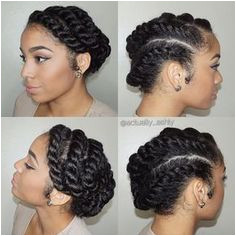 These 3 Cute Flat Twist Hairstyles Take Winning Prize – For Being Some The Best Back To School Styles Ever Black HairstylesNatural Updo