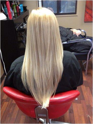 Amazing v cut hair