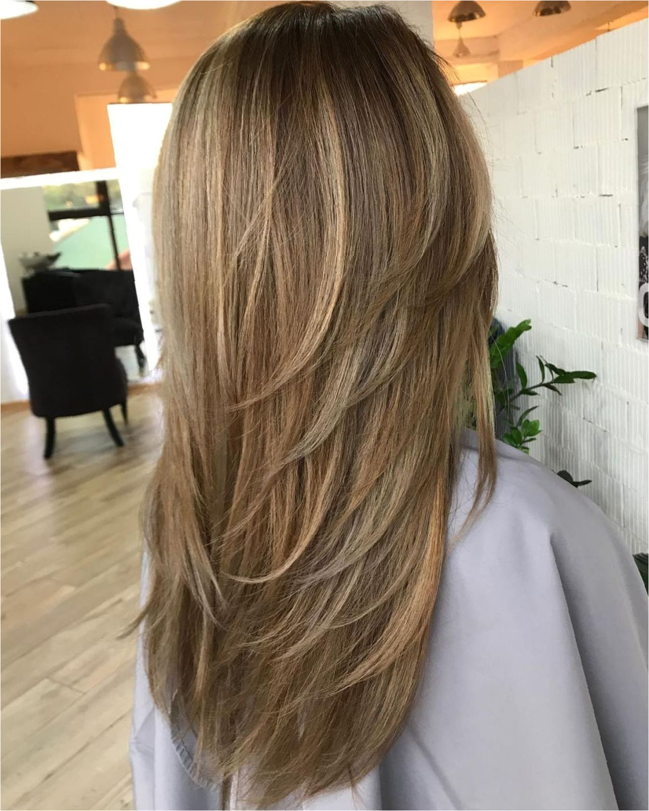 Long Haircut With V Cut Layers
