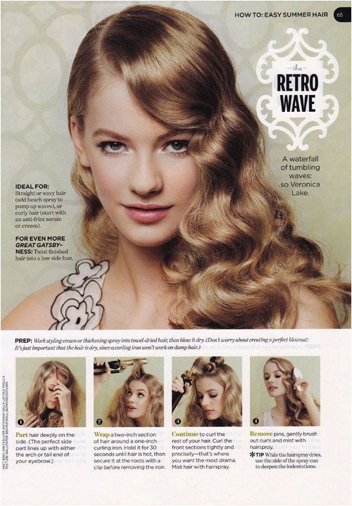 The Hair Style File Always Makes Waves with 1940s Style