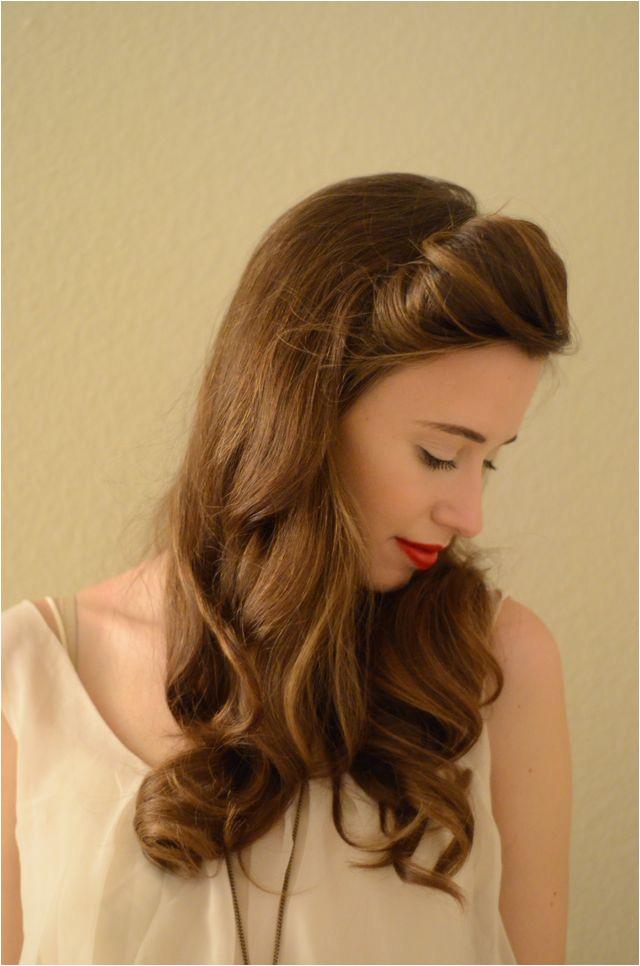 Brown Curls with Blunt Bangs