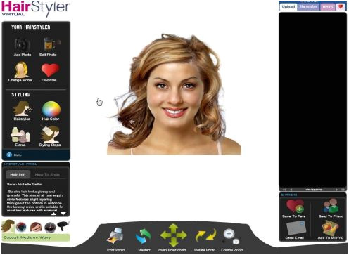 your photograph taken then uploaded to find your new virtual hairstyle