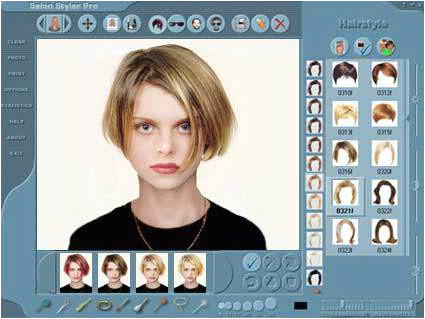 Try Hairstyles line line virtual hairstyle makeover