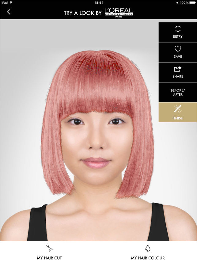 Style My Hair try on & color on the App Store