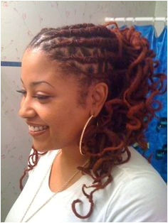 curly dreadlocks hairstyle