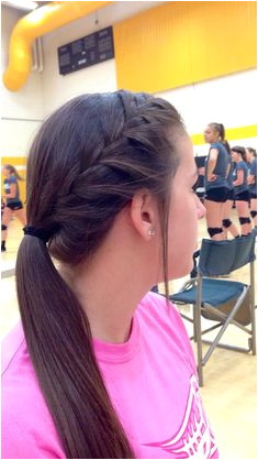 Cute volleyball hair Cute Volleyball Hairstyles Volleyball Braids Cute Sporty Hairstyles Gymnastics Hairstyles