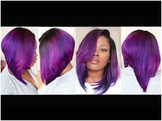 Fun Violet Bob Start to Finish Tutorial Coloring Cutting & Styling A Bob Hairstyle