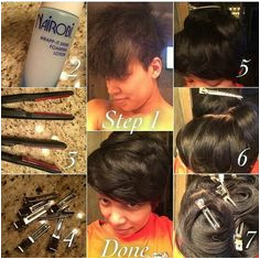 Monica s chemical free & short at the same time blow dry hair lay sides down with Nairobi lay iron sizes needed pull out old school clips & section smooth