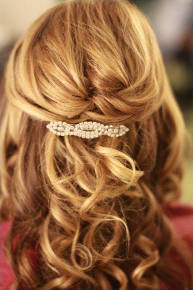 Wedding Hairstyles Half Up Half Down Medium Length