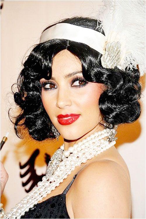 Kim Kardashian 1920s flapper look