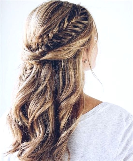 Wedding Hairstyles 2019 Down Plaited Bridal Hair Half Up Half Down Weddinghairstyles