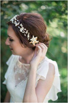 seashell headpiece seashell headband seashell hair