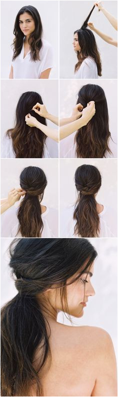 DIY Half Up Half Down Wedding Hair