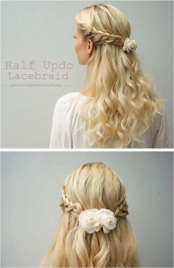 Half Updo Lace Braid