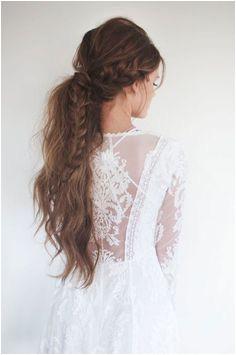 toussled ponytail Ponytail Wedding Hair Hairstyle Braid Bridal Hairstyles Bohemian Hairstyles Spring