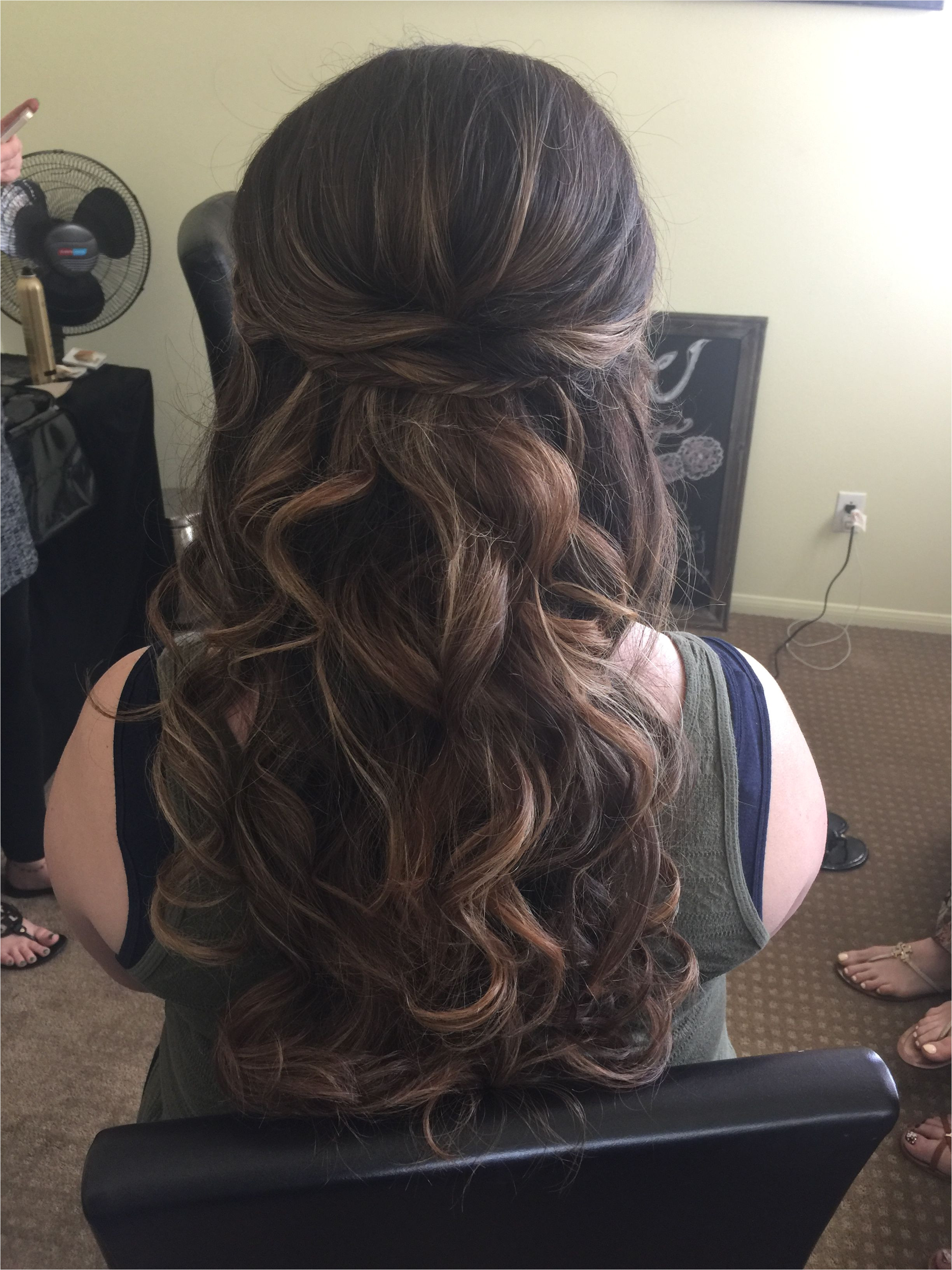Show me your half up down hairstyles with headband and veil Weddingbee
