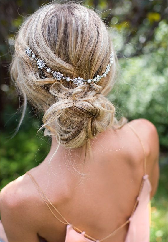 Vintage and Boho Inspired Wedding Hairstyle Via LottieDaDesigns on Etsy