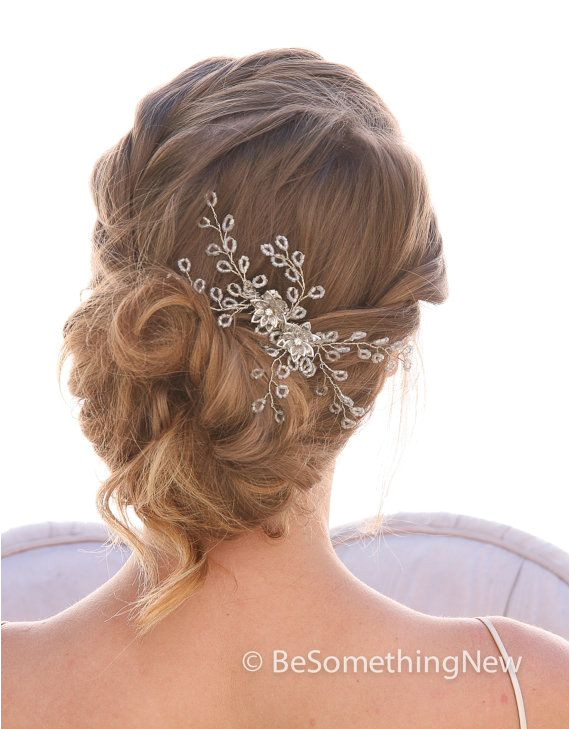Spray of Beads Wedding Hair b Wedding by BeSomethingNew on Etsy