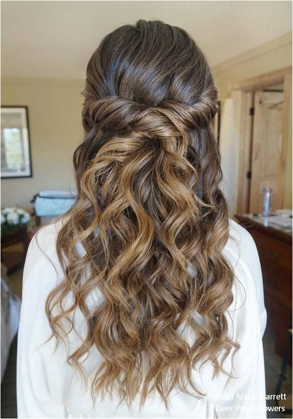Half up half down wedding hairstyles from Heidi Marie Garrett weddings hairstyles weddinghairstyles weddingideas fashion