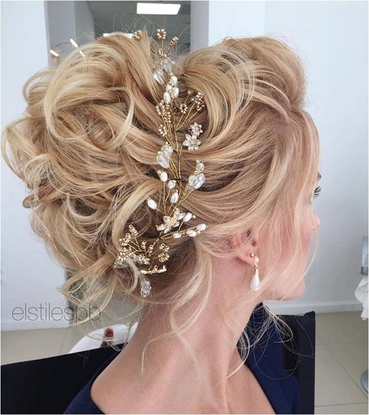 Adorable Messy Updo Wedding Hairstyle