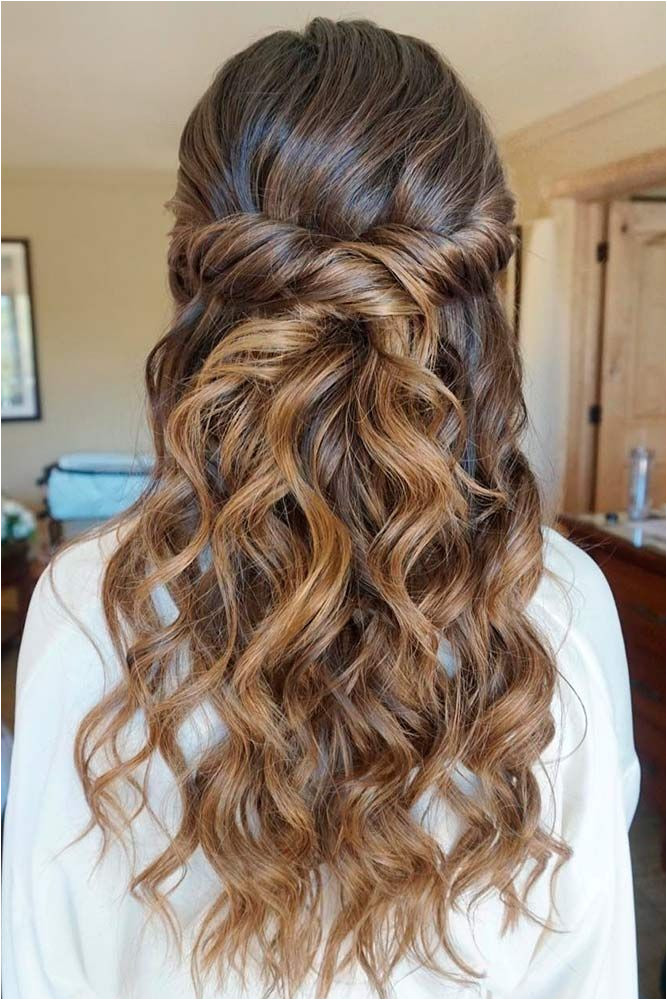 Beautiful bridal hair full of soft curls half up half down curls Amazing Graduation Hairstyles for Your Special Day ☆ See more glaminati