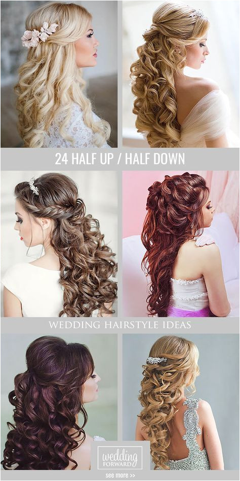 42 Half Up Half Down Wedding Hairstyles Ideas Do s Pinterest