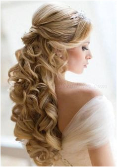Wedding Hairstyle For Long Hair half up half down wedding hairstyles half up half down