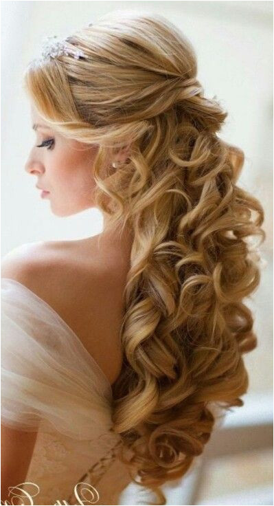 Wedding Hairstyles Half Up with Tiara and Veil Pin by Nectaria Kordan On Bridal Hair Pinterest