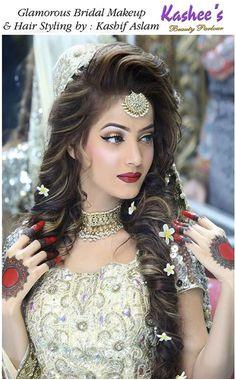 Indian Bridal Hairstyles Saree Hairstyles Wedding Hairstyles Dulhan Makeup Mehndi Makeup