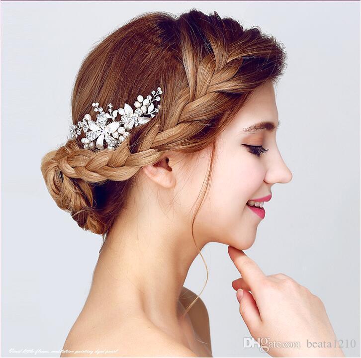 Hair bs Hoofdband Wedding Hair Accessories for Women Pearl 2018 Headbands Hairstyles Pearl Rhinestone Handmade Diademas Para Mujer Headbands for Women