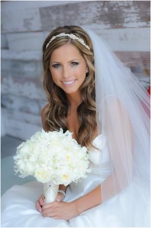 Ideas For Wedding Hair Accessories 2017 With Veil Mom this is what I was telling you about With her hair down and the pretty headband by mandy