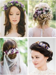 Purple wedding flower ideas for your hair Burgundy Wedding Flowers Modern Wedding Flowers White