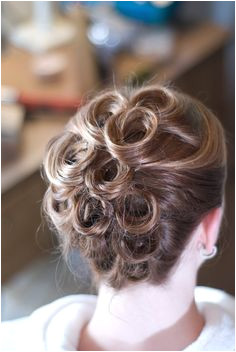 Pin curl vintage updo Girl Hairstyles Hairdos Prom Hairstyles For Short Hair Elegant