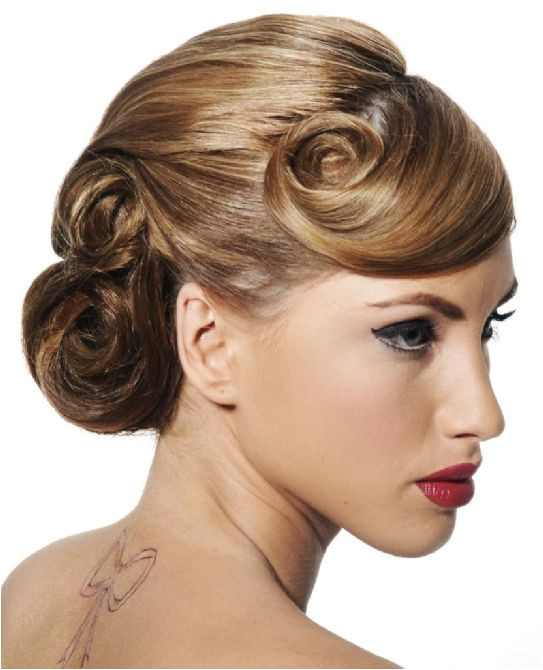 Awesome pin curls