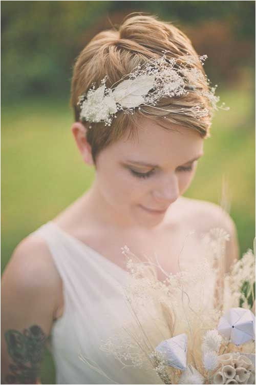 Pixie Short Hairstyles for Weddings