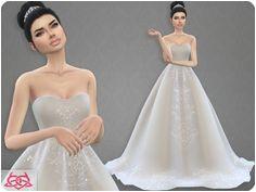 Colores Urbanos Wedding Dress 7 original mesh Sims 4 Wedding Dress Wedding