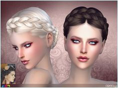 Sims 4 CC Dutch Braid Braided updo for your la s in 18 colours Found in TSR Category Sims 4 Female Hairstyles