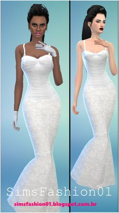 Sims Fashion 01 Wedding Dress With Corset • Sims 4 Downloads The Sims Sims