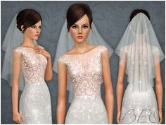 WEDDING VEIL 04 by BEO Sims 3 Downloads CC Caboodle