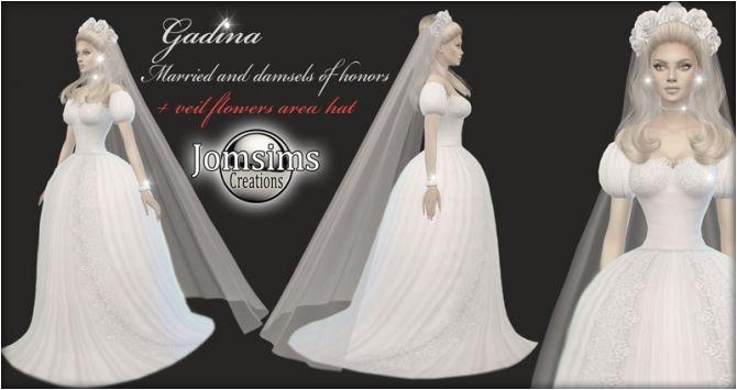 Sims 4 Updates Jomsims Creations Clothing Female GADINA wedding dress Custom