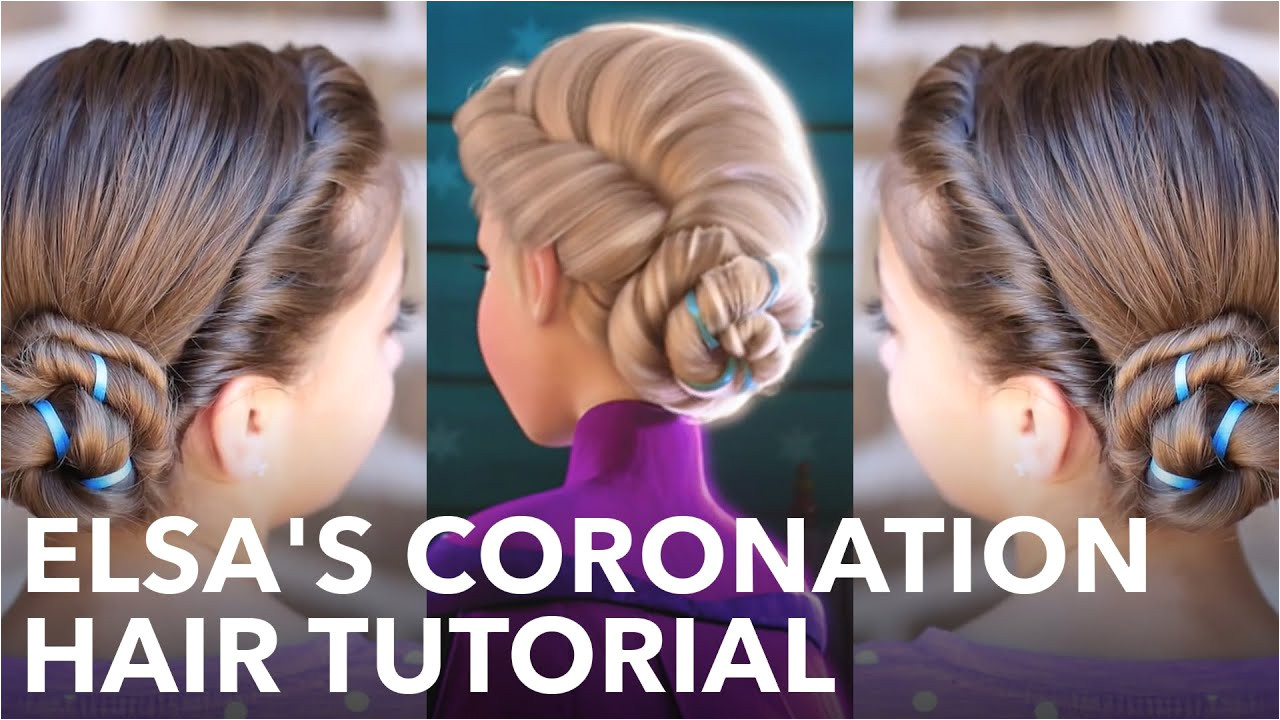 Elsa s Frozen Coronation Hairstyle Tutorial